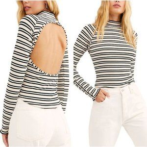 Free People L Sunday Afternoon Striped Cut out